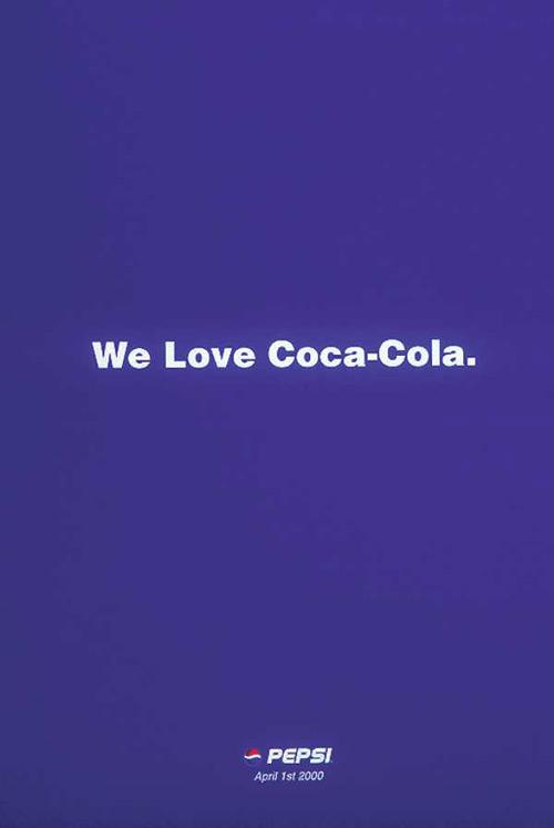 """""""Nós amamos Coca-Cola. 1º de Abril"""""""